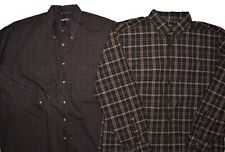 Nautica 2-Pack Button Shirt Mens Size XL Plaid Abstract Pattern