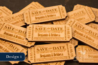 Personalised Save The Date Wooden Ticket Magnets