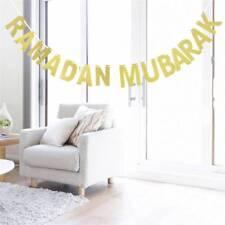 Ramadan Mubarak Golden Letter Party Decoration Bunting Garlands Banners*1