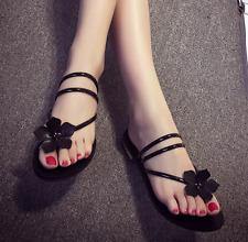 New Fashion Women Flip Flops Flat Shoes Summer Slippers Flower Sandals