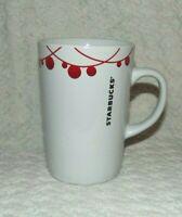 Starbucks 2012 Christmas Holiday Coffee/Mug Red Ornaments 10.8 oz