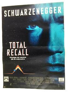 Poster Affiche cinema Total Recall 52x38cm Schwarzenegger Verhoeven  Envoi suivi