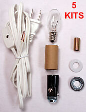 Lot of 5 - Small Christmas Tree Wiring Kits #ML2-B6, For Lighting Small Objects