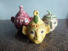 Vintage - Price Kensington - Face Pots - Red Cabbage / Apple Sauce / Marmalade