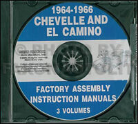 1964-1965-1966 Chevelle and El Camino Assembly Manual CD Chevy Chevrolet Malibu