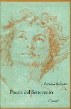 PARNASO ITALIANO. Volume VIII. Poesia del Settecento. Einaudi, 1967