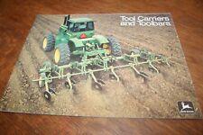 John Deere Tool Carriers and Toolbars Brochure 1974!