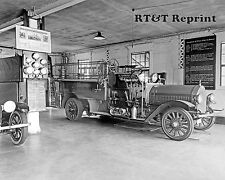 Photograph of a Mare Island California Vintage Fire Engine Year 1919   8x10