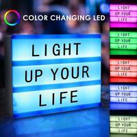 Magnetic A5 Cinematic LED Light Up Emoji Letter Box Sign Message Display Board