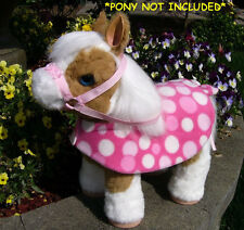POLKA DOT CUSTOM BLANKET RUG SET for Baby Butterscotch Magical FurReal Pony
