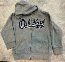 Oshkosh B'gosh Boys Size 6 Gray Hooded Zipper front sweatshirt
