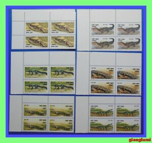 Vietnam Crocodiles Set 6 Block 4 MNH NGAI