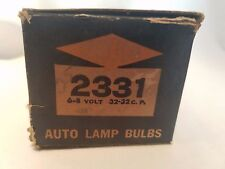 Box of 8 Carlton 2331 Auto Automotive Lamps Light Bulbs 6-8V 32 CP