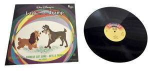 Walt Disney's Lady and the Tramp Soundtrack 1964 Disneyland Vinyl LP