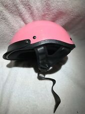 DOT Motorcycle Scooter Bike Half Face Helmet Glossy Pink Small Vespa USED ONCE!