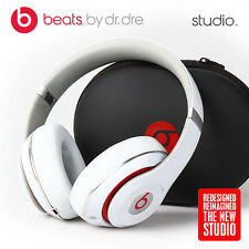 Beats by Dr. Dre Studio 2.0 WIRED Headband Headphones 2014 - White & Red