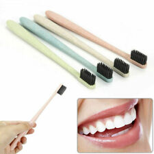 Useful Wheat Straw Bamboo Charcoal Soft Toothbrush Home Travel Oral Care Health