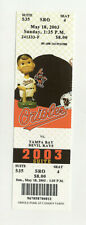 Baltimore Orioles Vs Tampa Bay Devil Rays May 18 2003 Unused Suite Ticket