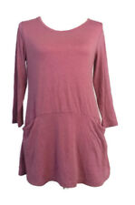 LOGO by Lori Goldstein Womens Size XS Knit Top Tunic Length Light Coral