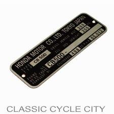 Honda CB 500 Four Typenschild Aluminium VIN Type Plate Registered Aluminum