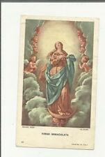 95561 SANTINO HOLY CARD Heiligenbildchen VERGINE MARIA VIRGO IMMACULATA