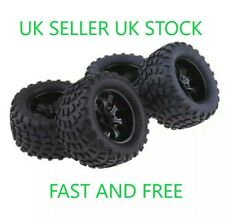 😀1/10 TRUCK WHEELS & TYRES HSP HIMOTO REDCAT RC MONSTER LOSI 12MM HEX 4😀