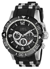 Invicta Men's Watch Pro Diver Scuba Chronograph Dive Black Dial TT Strap 23696