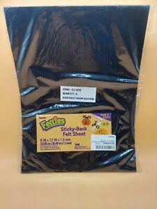 Darice, 9 by 12 inch, Adhesive Back Felties Felt Sheet, Black, 5 pack!