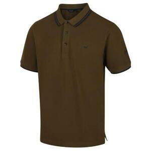 Regatta Mens Talcott II Cotton Pique Polo Shirt - Dark Khaki - M