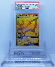 Pokemon ULTRA PRISM LUNALA GX #172 SECRET RARE GOLD HOLO FOIL CARD PSA 9 MINT #*