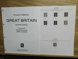 STANLEY GIBBONS 2009-2012 GREAT BRITAIN 4 RING ILLUSTRATED STAMP ALBUM PAGES