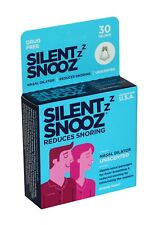 Silent Snooz, Unscented, 30 Reuses, Helps Reduces Snoring, Drug Free