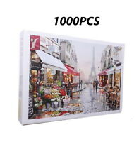 Educational 1000 Piece Jigsaw Puzzles Paris Flower Street Adults Kids Puzzle TJC