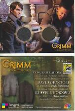 Grimm - Breygent San Diego 2014 SDCC GCC-7 Dual Costume Card worn by Nick + Hank