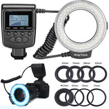 48 LED Ring Flash Light Macro for Nikon/Canon/Olympus Camera with 8 Lens Adapter