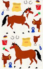 Mrs. Grossman's Giant Stickers - Horse Tack - Saddle, Feed, Brushes - 2 Strips