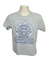 2009 New York Yankees 27 Time World Series Champions Youth Large Gray TShirt