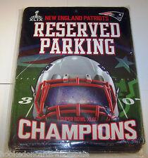 "New England Patriots 8.5 x 11"" Metal Parking Sign 2014 Super Bowl 49 Champions"