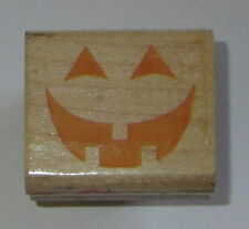 Pumpkin Face Rubber Stamp Smile Mouth Eyes Halloween Carving Toothy Grin