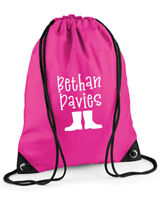 Personalised Kids' Children's Wellies Bag, Gym Bag, PE Bag, Choice of Colours