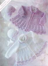 "Baby Prem Matinee Coats & Hat 12"" -  20""  DK  Knitting Pattern"