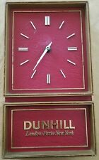 Vintage Alfred Dunhill Red Gold Battery Powered Analog Show Wall Clock