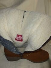 VINTAGE CHILKWELL GLASTONBURY  REAL SHEEPSKIN BOOTS UK 5.5  BRITISH MADE