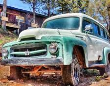 """International Minty""8x10 Truck HDR Photograph Print KODAK ENDURA metallic"
