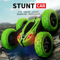 Kids 360° Rotate Stunt Car Model RC 4WD High Speed Remote Control Off-road Toy U
