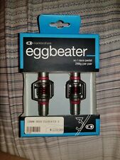 Crankbrothers Eggbeater 3 Bike Pedals (Red) with Cleats and Bike Shoe Shields