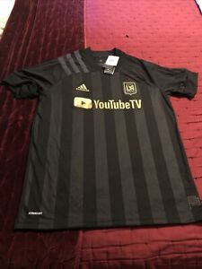 NWT Adidas MLS LAFC Los Angeles FC Aeroready Home Primary Soccer Jersey Large