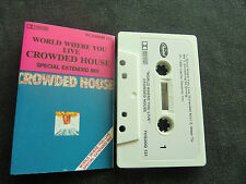 CROWDED HOUSE WORLD WHERE YOU LIVE ULTRA RARE NEW ZEALAND CASSETTE SINGLE! x
