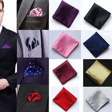 Men Pocket Square Handkerchief Polyester Silk Dot Hanky Wedding Party