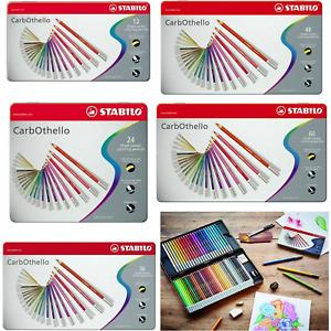 STABILO CarbOthello Artist Pastel Chalk Colouring Pencils - 12, 24, 36, 48, 60